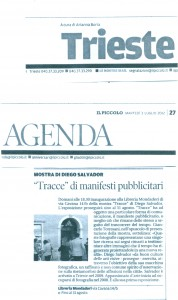 1 Il Piccolo 3-07-2012 Mostra Traces Mondadori